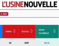 ISAT 24ème au classement 2019 Usine Nouvelle